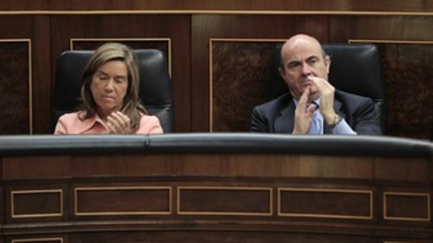Luis De Guindos Y Ana Mato En El Congreso