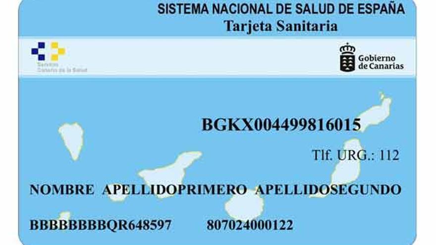 Tarjeta sanitaria del Servicio Canario de Salud.