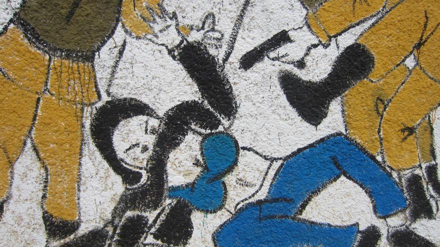 Pintada contra el acoso sexual a las mujeres en la calle Mohamed Mahmoud, El Cairo, en octubre de 2012 © Amnistía Internacional