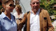 Isabel Preysler y Vargas Llosa este martes en Tazacorte.