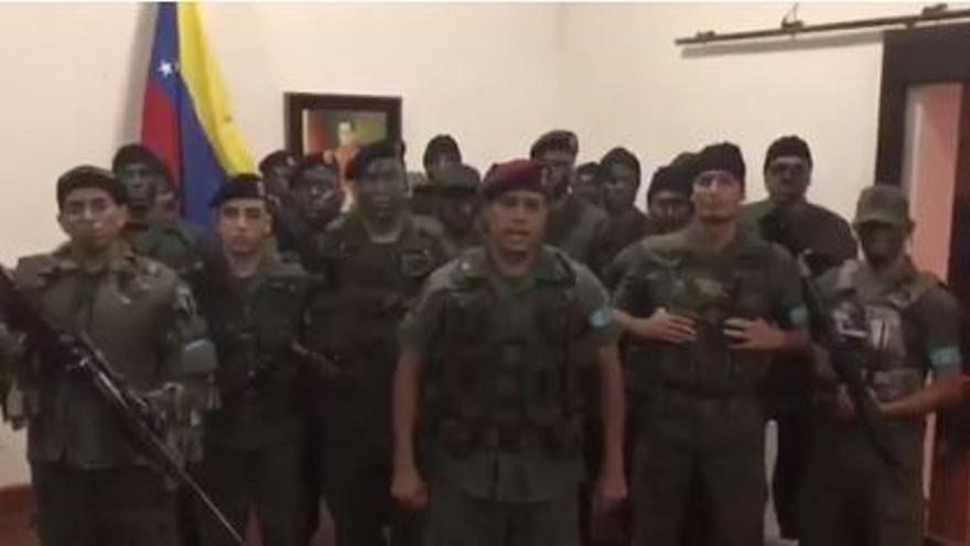 Vídeo difundido por los militares revelados contra Nicolás Maduro