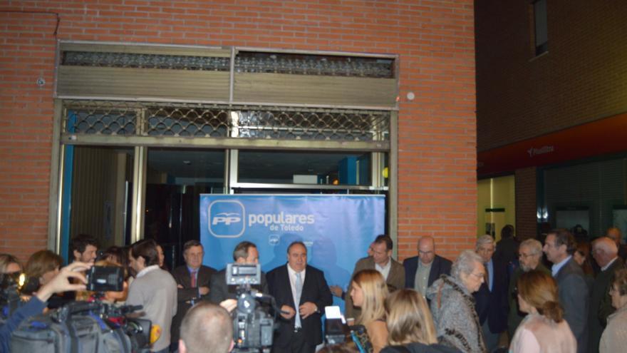 Set improvisado del PP de Toledo para presentar a su candidato a la Alcaldía / Foto: Javier Robla