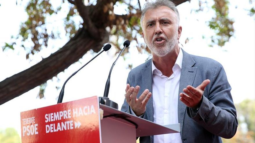 El candidato a la presidencia del Gobierno de Canarias por el PSOE, Ángel Víctor Torres.