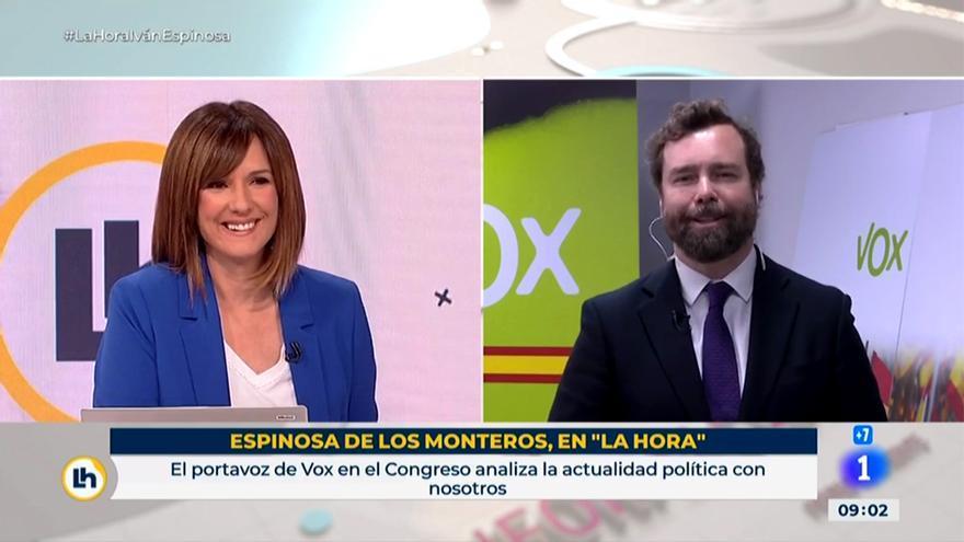 Mónica López y Espinosa de los Monteros en 'La hora de La 1'