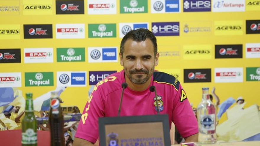 El jugador de la UD Las Palmas, Ángel López.