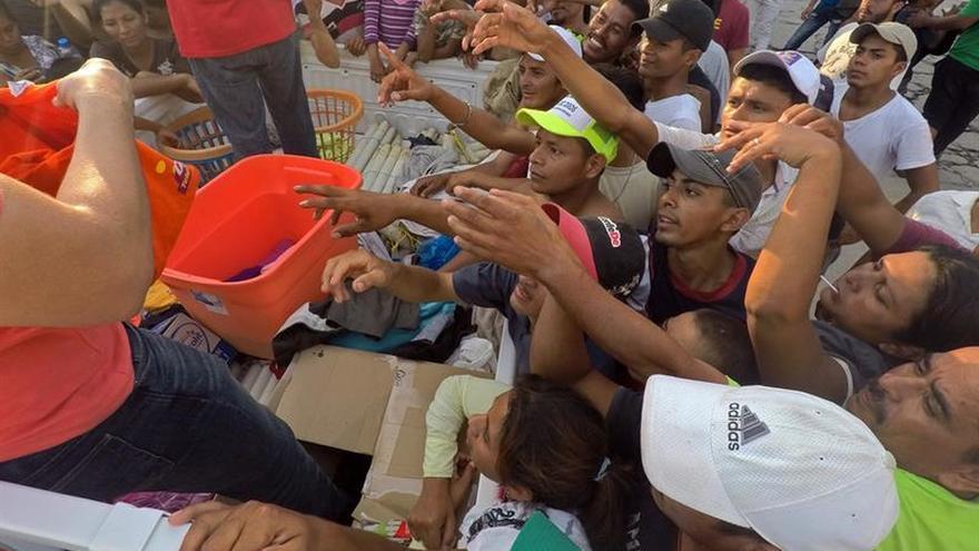 Caravana migrante llega a su última parada en el estado mexicano de Chiapas