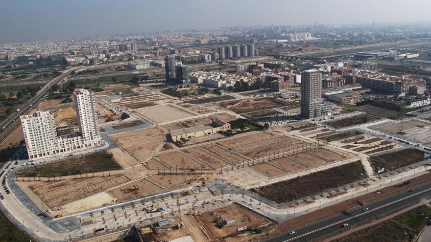 Vista área de la ciudad fantasma de Sociópolis