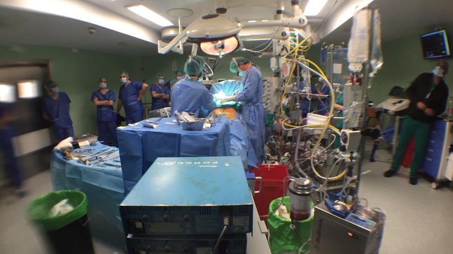 Operación de cirujía cardíaca en el Hospital Virgen de la Arrixaca