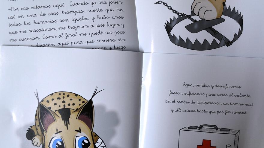 Uno de los cuentos infantiles sobre el lince publicados por la Diputación de Toledo
