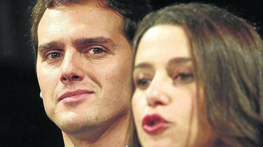 Albert Rivera e Inés Arrimadas, líderes de Ciudadanos. EFE