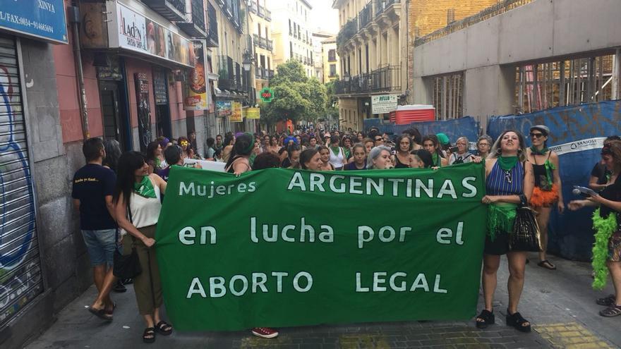 Cabecera del pasacalles a favor de la despenalización del aborto