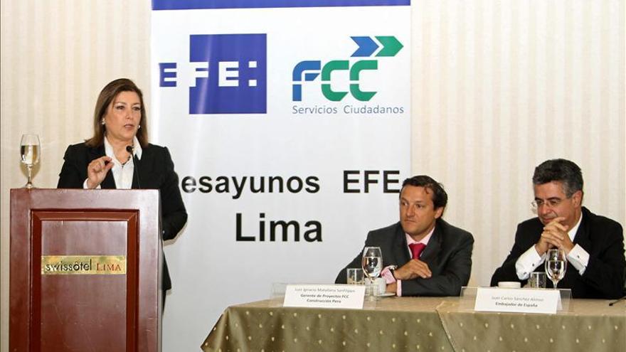 La canciller de Perú dice que la exención de visas no provocará una estampida hacia Europa