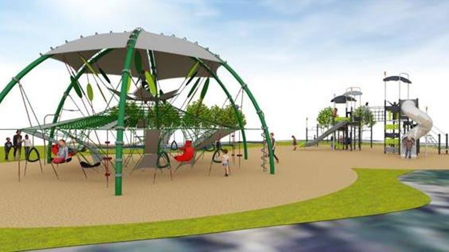 Proyecto de parque infantil 'La cúpula gigante'.
