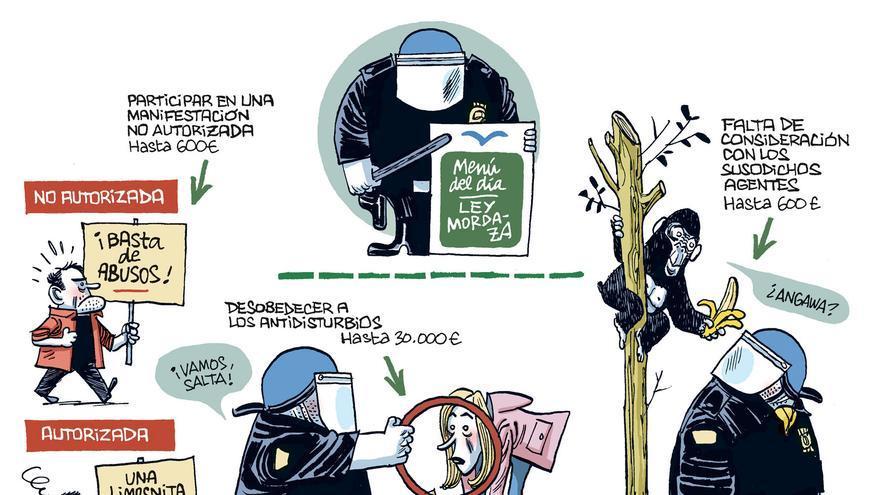 La ley de seguridad ciudadana, según Manel Fontdevila.