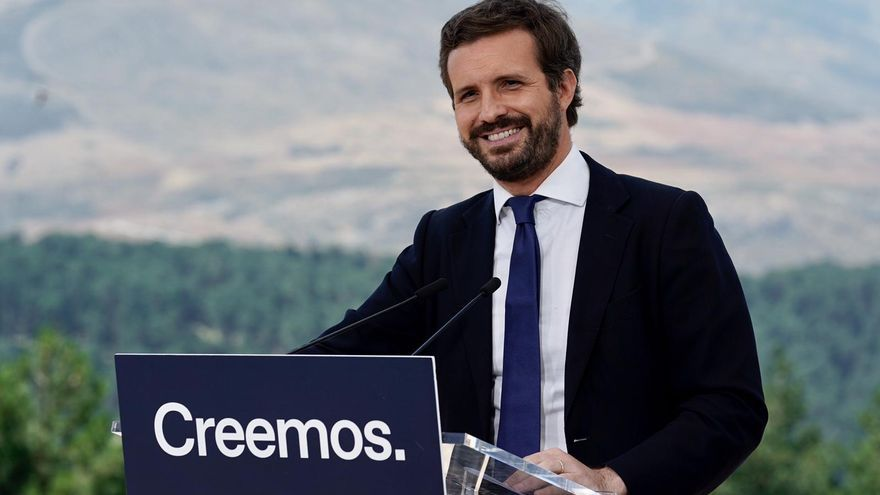 El líder del PP, Pablo Casado, este miércoles.