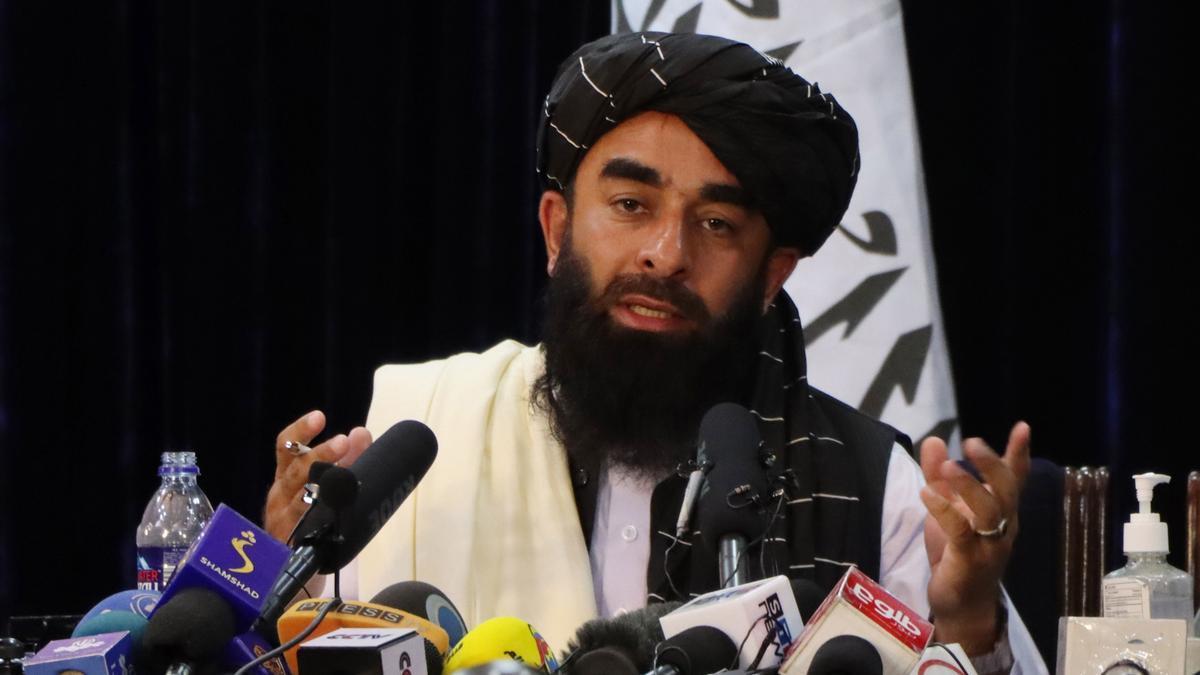 Zabihullah Mujahid, portavoz de los talibanes