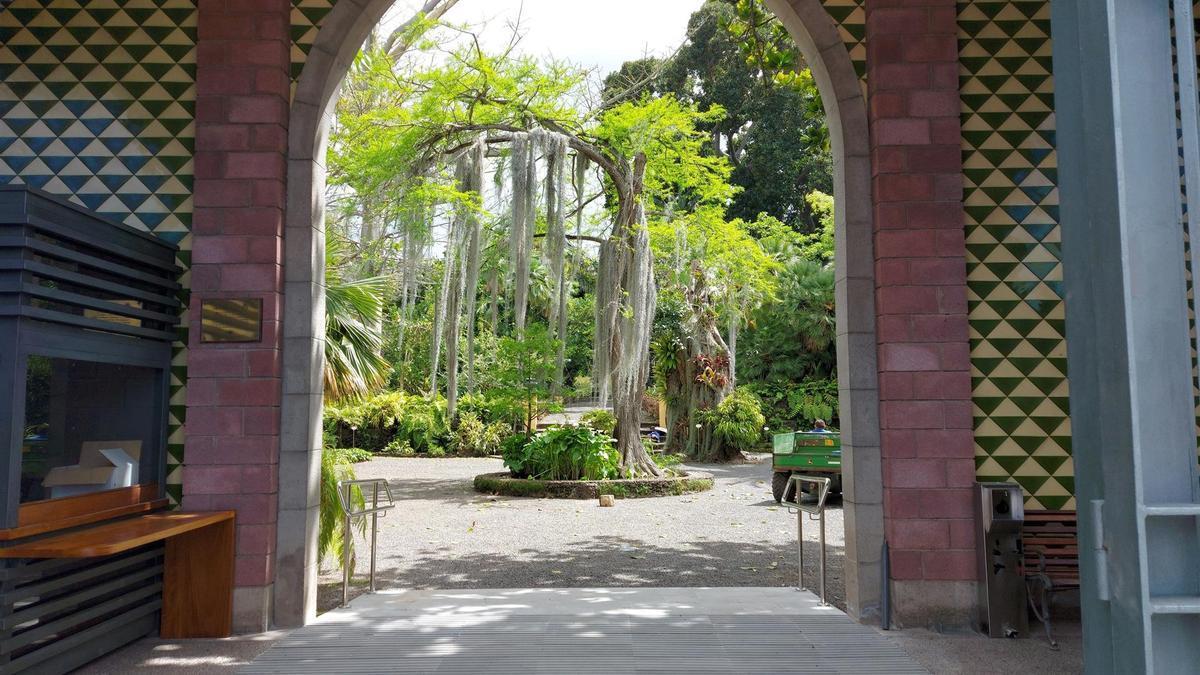 Acceso al Jardín Botánico ubicado en Puerto de la Cruz