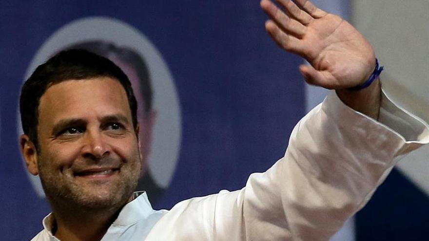 Rahul Gandhi toma posesión como presidente del Partido del Congreso de la India