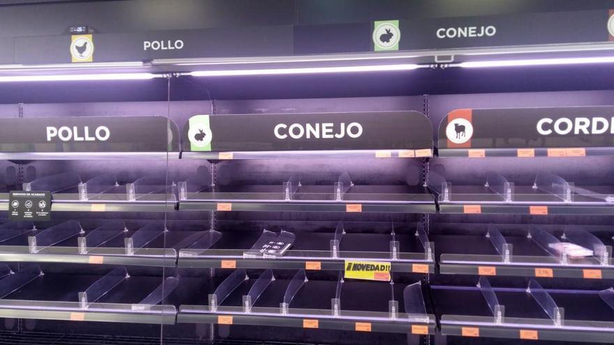 Un supermercado de Toledo, la semana pasada