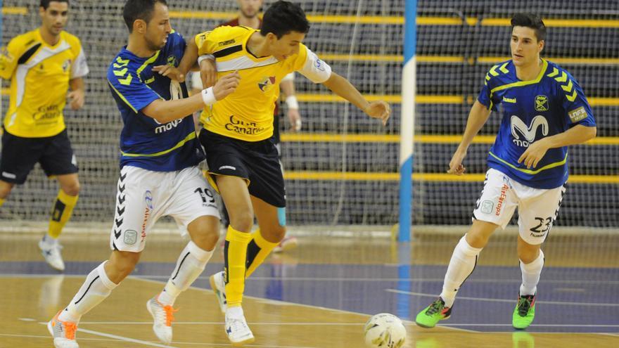 Imagen del encuentro de Copa del Rey entre el Gran CanariaFS y el Movistar Inter. (colegiosarenasgrancanaria.com).