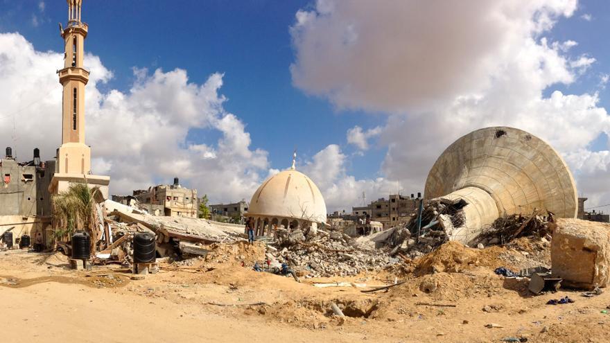 Una de las fotos tomadas por el doctor Higinio Ayala durante su estancia en Gaza.