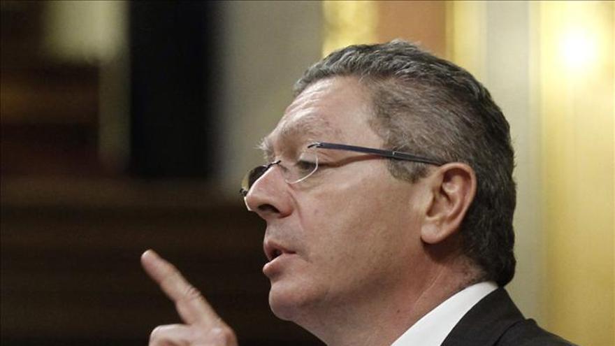 El ministro de Justicia, Alberto Ruiz-Gallardón / EFE.