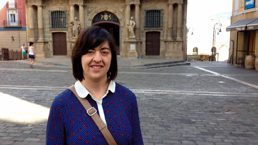 Vanesa Eguíluz, integrante de Ampea que participa en Sanfermines en Igualdad.
