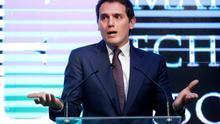 Albert Rivera, en su presentación en sociedad como presidente ejecutivo de una firma de abogados.