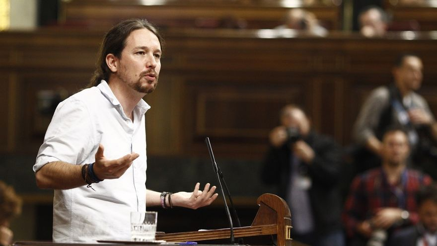 Pablo Iglesias durante un debate parlamentario