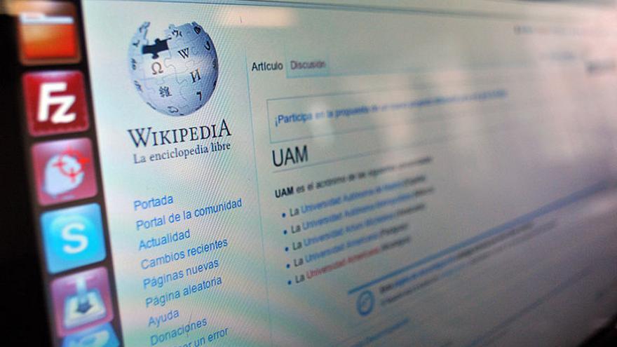 Wikipedia en español. Foto: Wikimedia Commons.