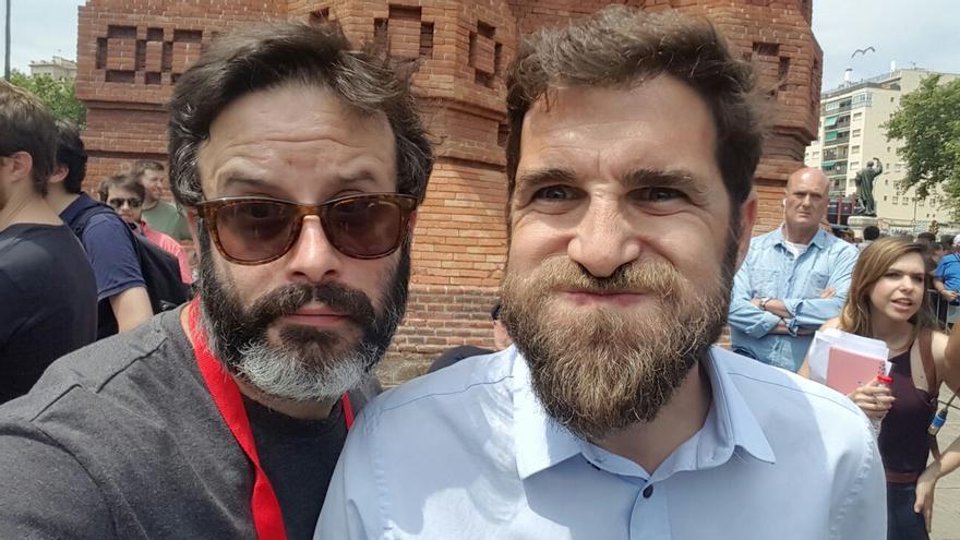 Selfie de Edu Galán con Gonzo
