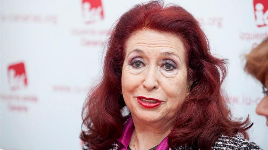 Lidia Falcón pide a Podemos que asuma postulados feministas, como ha hecho IU