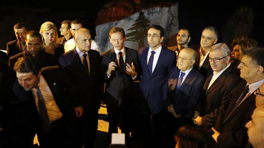 Homenaje en el Líbano a las víctimas de los atentados de París y Beirut