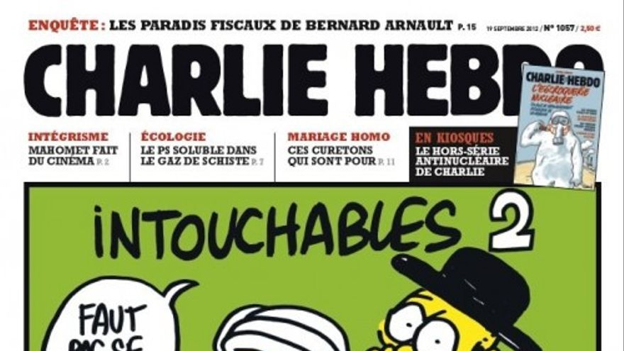 La portada de Charlie Hebdo que sale hoy a la venta.