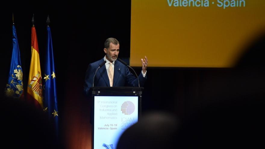 El rey Felipe VI en la apertura del Congreso Internacional de Matemática Industrial Aplicada