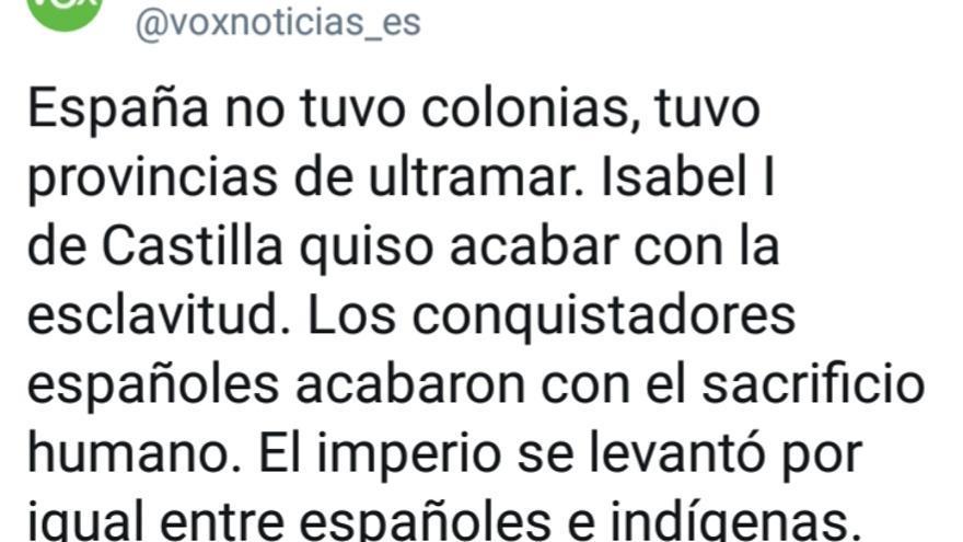 Vox y el imperio español