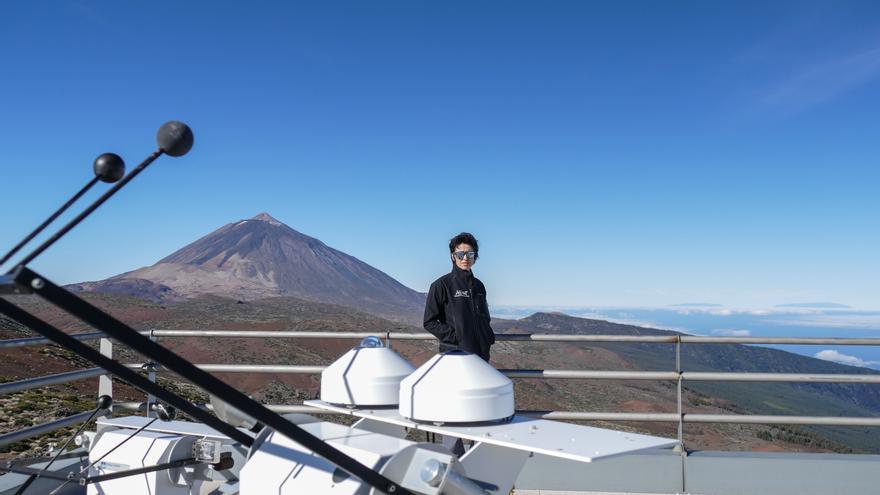 La doctora Omaira García Rodríguez en el Centro de Investigación Atmosférica de Izaña.