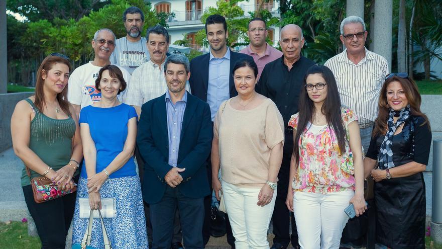 Agentes de viajes y turoperadores de Agadir junto al consejero de Turismo del Cabildo durante su visita