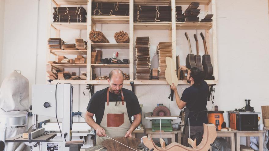 El taller del cartegenero Luis Guerrero