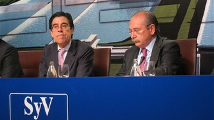 Manuel Manrique, Nuevo Presidente De Sacyr, Junto A Luis Del Rivero