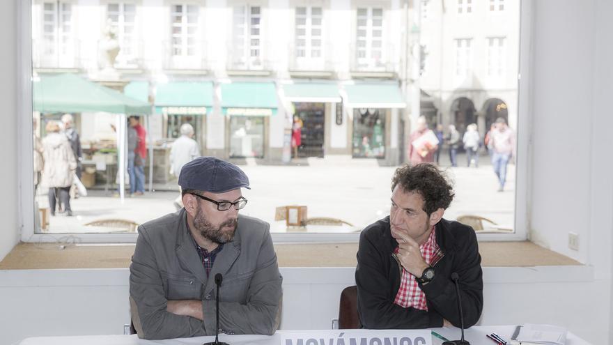 Noriega (izquierda) y Duarte, presentando la propuesta / Compostela Aberta