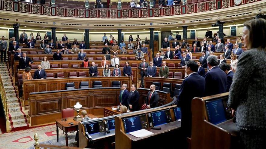 Diputados del Congreso guardan un minuto de silencio por el niño Gabriel Cruz