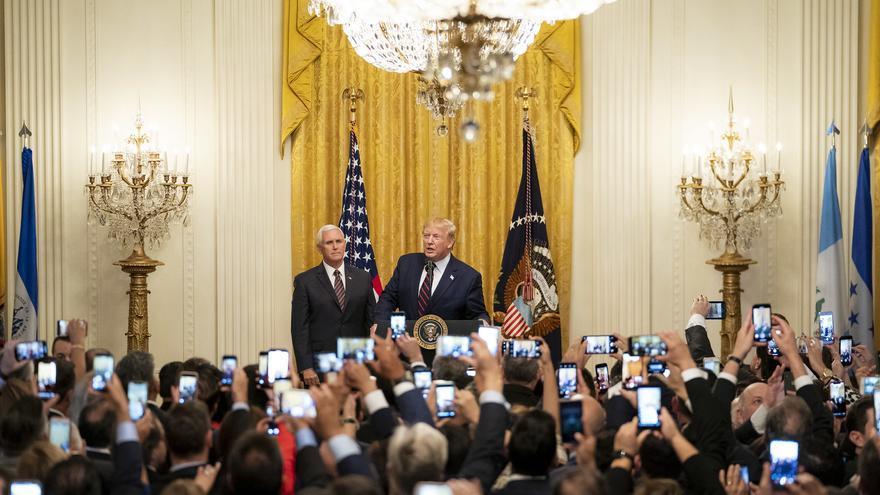 Trump y Mike Pence en una recepción en la Casa Blanca el 27 de septiembre.