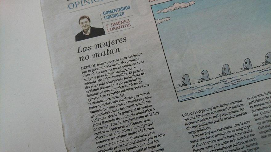 Columna de Jiménez Losantos sobre Gabriel