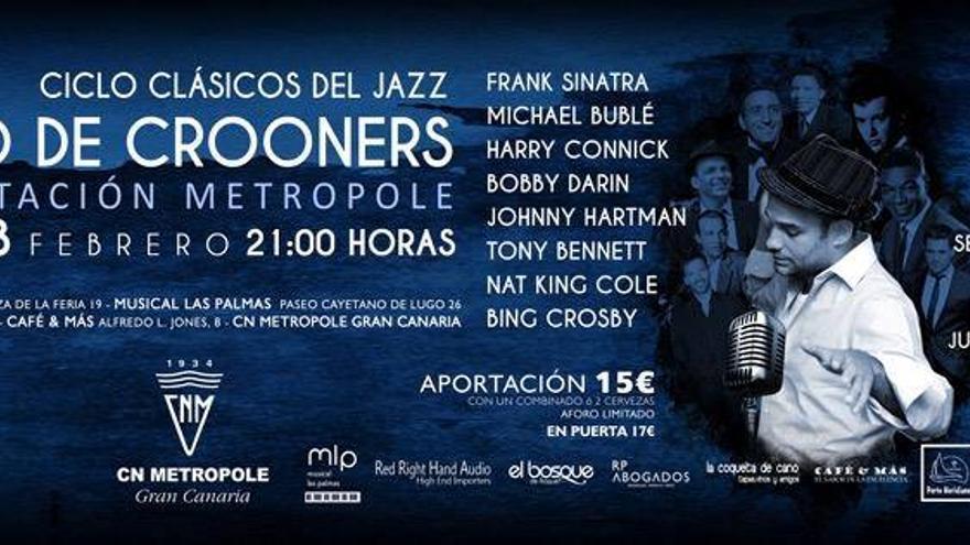 Los grandes 'Crooners' del jazz, en la quinta edición del 'Smoke Jazz & Drink'