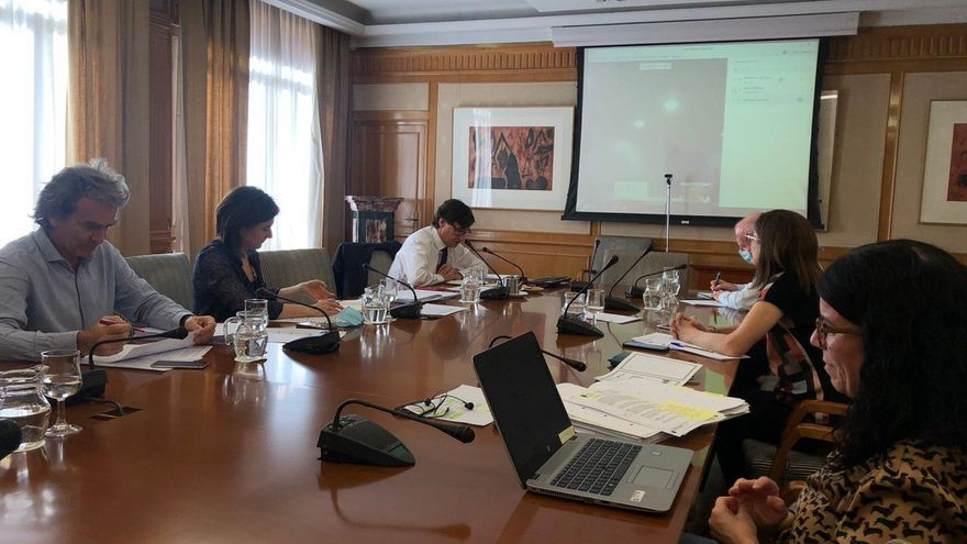 Una imagen de la reunión telemática del Ministerio de Sanidad con las autoridades de Cantabria.