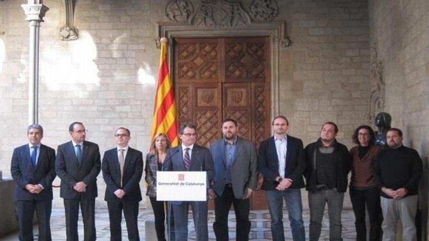 Artur Mas, en la presentación de la fecha y las preguntas de la consulta.