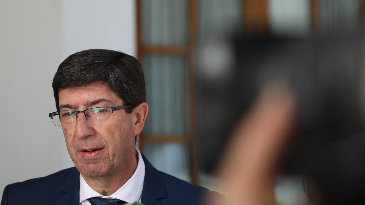 El vicepresidente de la Junta y líder de Ciudadanos en Andalucía, Juan Marín