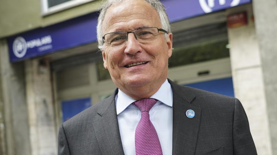 El candidato del PP a la alcaldía, Josep Bou, el pasado miércoles en Barcelona.
