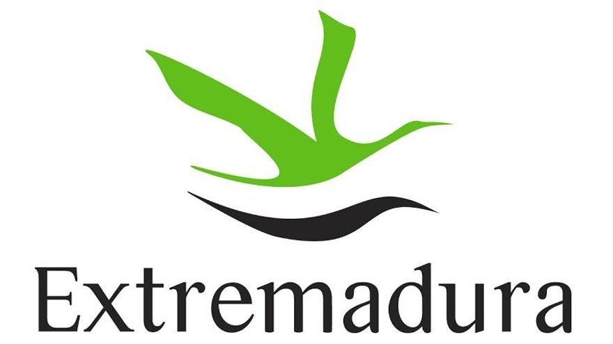 Logotipo cigüeña Junta Extremadura